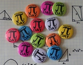 "Pi Day Colorful Nerdy Geeky Math 1"" Pinback Button"