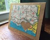 I love Bridgeport CT - 1 blank handmade greeting card