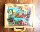 Hear me Roar... Vintage Plastic Dinosaur Toys, Set of 6