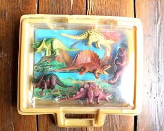 Hear me Roar... Vintage Plastic Dinosaur Toys, Set of 6