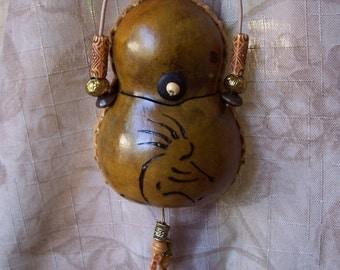 Gourd medicine bag necklace kokopelli. 1841.