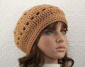 Hand crochet hat, beanie - topaz - Women's beanie Fall Fashion Winter Fashion Women's Accessories by Sandy Coastal Designs ready to ship