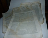 Boston Ma. Vintage Newspapers 1841 Boston Weekly Magazine Lot of 22 issues