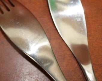 Vintage Flatware  by CAMBRIDGE satin handles modern stainless silverware BIN 43
