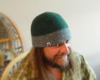 Mens Wool Beanie UPCYCLED SMALL