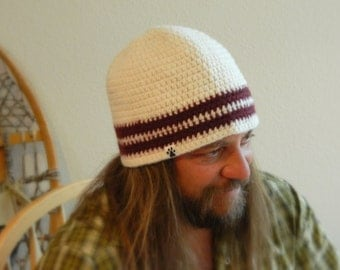 Mens Wool Beanie UPCYCLED Large