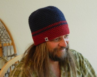 Mens Wool Beanie UPCYCLED Extra Large