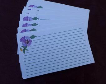 Purple Iris Recipe Cards
