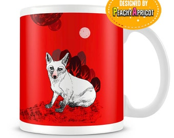Lonely Red Fox mug - Nature Lover - Fox gifts - Original art