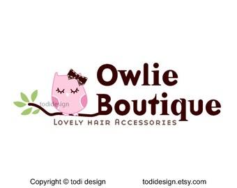 Owlie Boutique - Premade Logo Design