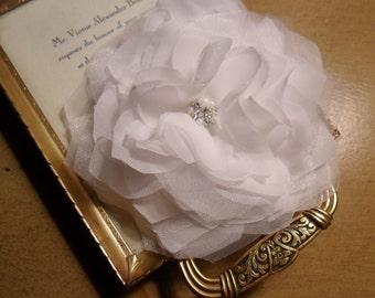 Bridal Hairpiece, Wedding Hair Comb, Chiffon & Silk Hairpiece, Bridal Hair Accessory, Wedding Fascinator,Bridal Hair Comb,Bridal Hair Flower