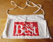 Vintage Shop Apron -Red and White -