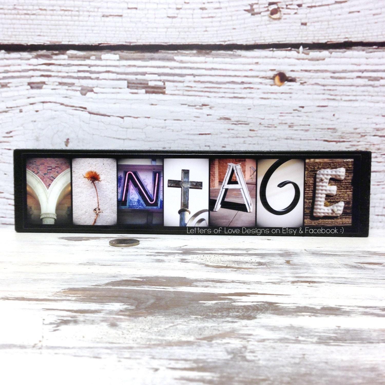 Vintage Wooden Signs Home Decor: Vintage Wood Sign Vintage Home Decor Vintage Wall Decor Art