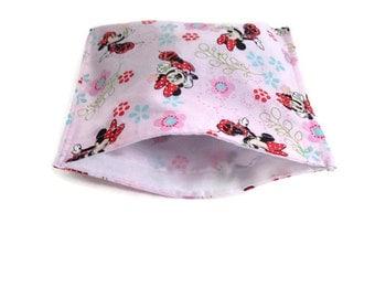 Minnie mouse reusable snack bag, reusable sandwich bag