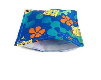 Sponge Bob reusable snack bag, reusable sandwich bag