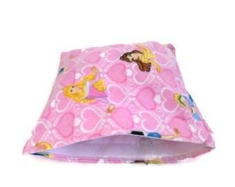 SALE reusable snack bag, reusable sandwich bag, ziplock alternative, Disney Princess, princess, eco bag, pink snack bag, pink sandwich bag