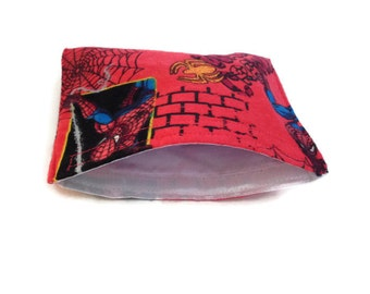Spiderman reusable snack bag, reusable sandwich bag