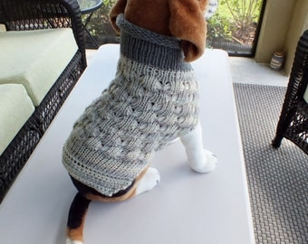 Dog Coat  Medium 14 inches long Merino Wool
