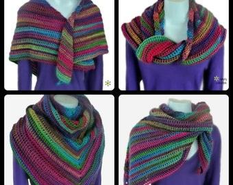 Crochet Shawl Pattern - Lily's Rose Garden Shawl Crochet Pattern - Written Pattern PDF