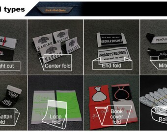 300 Woven Labels - YOUR OWN ARTWORK - Up to 8 Colors