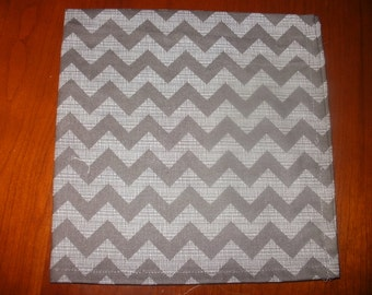 Sale... 6 Large Cotton Napkins...17 inches...Stitched Hems Not Serged...FREE SHIPPING