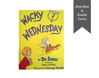 "READY TO SHIP! Dr Seuss ""Wacky Wednesday"" -  iPad Mini cover, iPad Mini case, Kindle cover, Kindle case, Nook cover made from a vintage book"