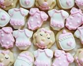 5 dozen Mixed Baby Girl Design Mini Cookie NIbbles