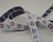 Red White and Blue Nautical Anchor Trim Ribbon 3 1/2 yards