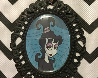 Beetlejuice Cartoon Lydia Cameo Necklace