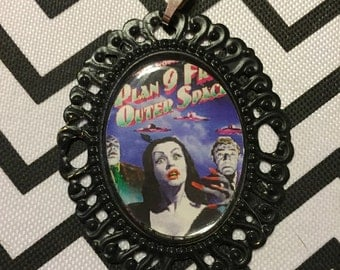 Plan 9 From Outer Space Cameo Necklace