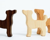 Wooden Terrier Rattle // Gift for Dog Lovers // Organic Baby Teether and Natural Rattle Toy in One // Safe For Sensitive Baby