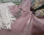 Vintage Rose color silk organza fabric by the yard
