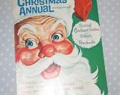 Unused Cardboard Cutouts - Golden Magazine Annual Christmas for Boys and Girls 1968 Vintage Children Book Santa