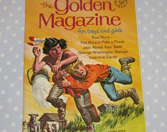 Golden Magazine for Boys and Girls February 1968 Vintage Children Book