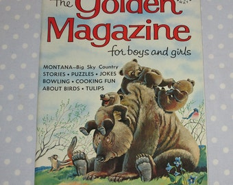 Golden Magazine for Boys and Girls May 1966 Vintage Children Book