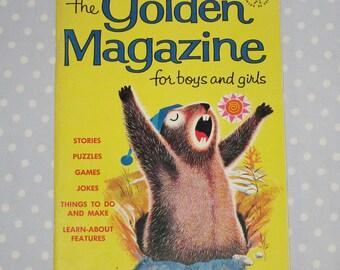 Golden Magazine for Boys and Girls February 1964 Vintage Children Book