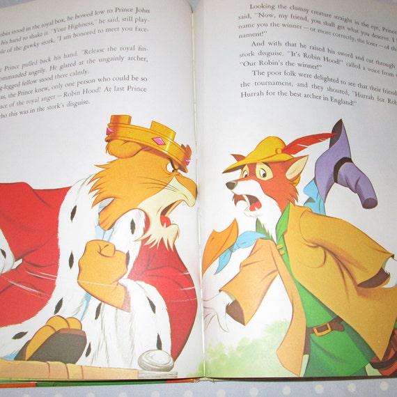 1973 Plot To Capture Robin Hood Children Book Walt Disney