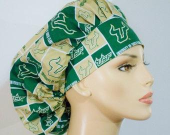 Scrub Hats USF Bouffant Medical NCAA Scrub Hat - University of South Florida