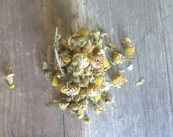 Wiccan herbs - dried chamomile flowers witchcraft pagan herb spells magick occult supplies altar tools spells magick