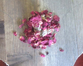 Dried Rose petals and buds - Wiccan herbs witchcraft spells pagan herb magick occult supplies altar tools magick spells