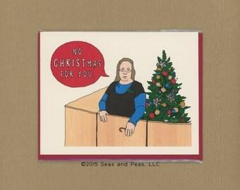 KIM DAVIS CHRISTMAS - Funny Christmas Card - Christmas Card - Scrooge - Gay Christmas Card - Gay Card - Gay Christmas - Gay - Item# X073