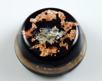 Orgonite Orgone Energy Generator. Arkansas Crystals, Selenite, Elite Shungite, Rhodizite, Petalite,  Black Tourmaline,  Copper