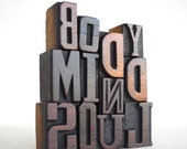 Body, Mind, Soul - 12 Vintage Letterpress Wood Type Alphabets Collection - LP12 -