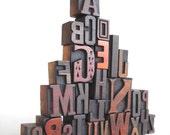 A to Z - Vintage Letterpress Wood Type Collection -LP14