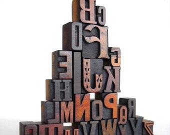 A to Z - Vintage Letterpress Wood Type Collection -LP15
