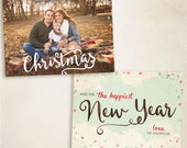 2015 Christmas Card Templates vol.9 7x5 inch card template