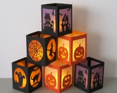 Halloween Lantern with Battery LED Tea Light - Your Choice of Design