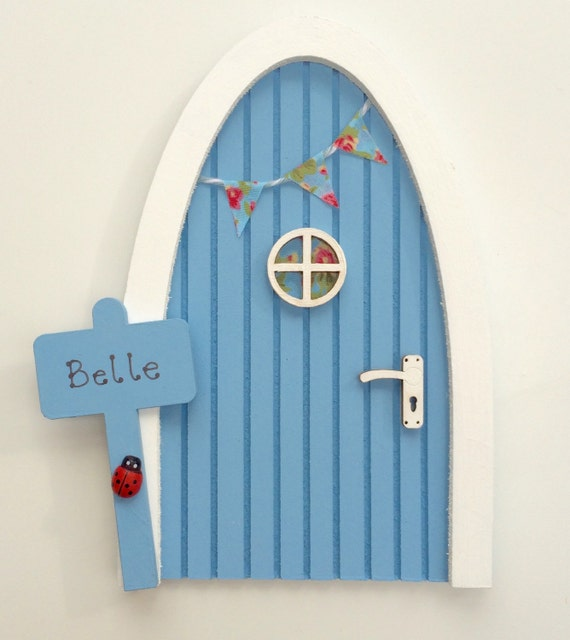 Items similar to secret fairy door periwinkle blue for Fairy door adairs