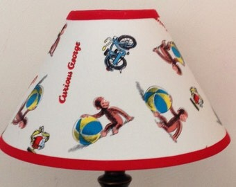 Curious George Children's Fabric Lamp Shade