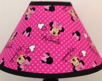 Disney Pink Minnie Mouse Fabric Children's Lamp Shade